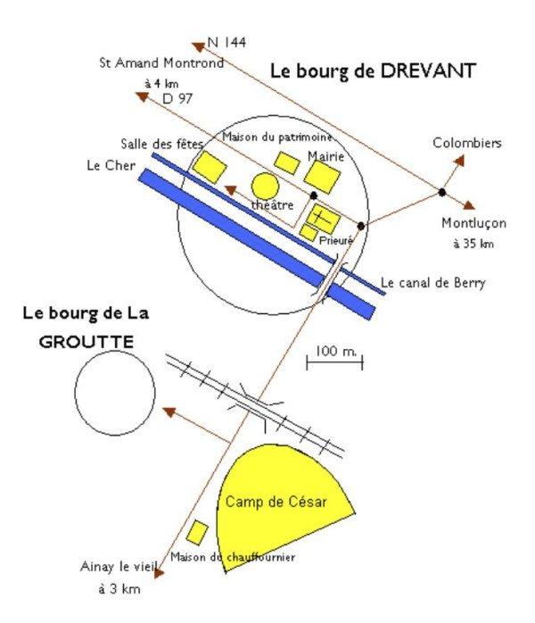 Plan de Drevant et La Groutte