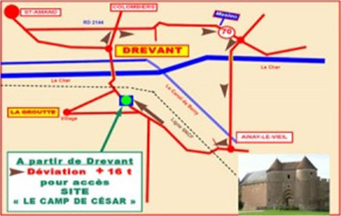 Circuit accès La Groutte par car