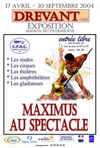 Affiche « Maximus au spectacle » 2004