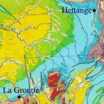 carte position de La Groutte et Hettange