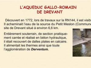 Panneau acqueduc gallo-romain