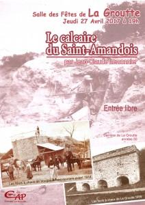 Conérence Le Calcaire du St Amandois